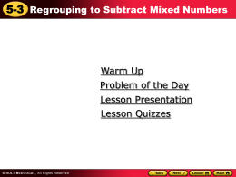 5.3 Regrouping with Mixed Numbers