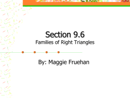 Section 9.6 Families of Right Triangles