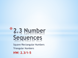 STEPS to write the rule for a Rectangular Sequence