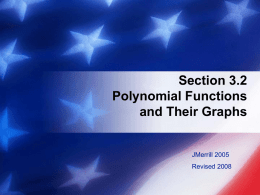 Unit II: Polynomial Functions Topic IIc: Solving Quadratic Equations