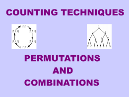 Introduction to Permutations and Combinations Power point.