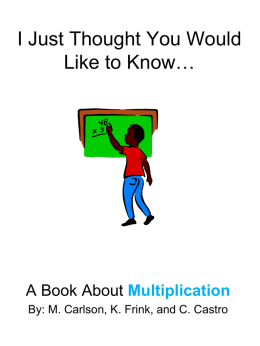 Big Book multiplication thought you should know