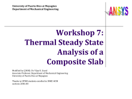 Workshop 7: Thermal steady state analysis of a composite slab