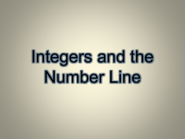 One Way to Add Integers Is With a Number Line - Math GR. 6-8