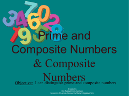 Prime and Composite Numbers & Composite Numbers