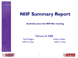 NIIF Issues in Initial Closure Issues in Initial Closure
