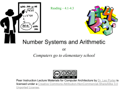 L3-Arithmetic - Peer Instruction for Computer Science