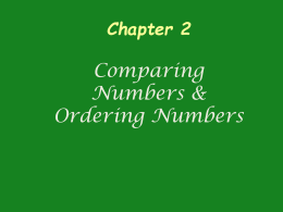 Comparing & Ordering Numbers2