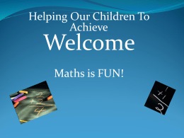 KS1 maths workshop oct 2015