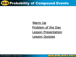 Compound events