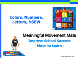 Colors, Numbers, Letters, and NSEW