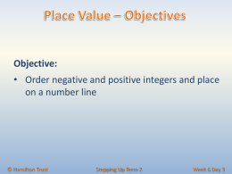 Order negative and positive integers and place on a number line.