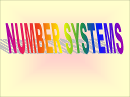 NumberSystems
