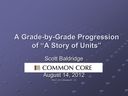 Day Two Presentation – Part I (Grades K-2)