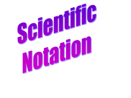 Write the following numbers in scientific notation.
