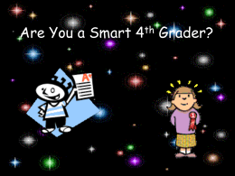 Are You a Smart 4th Grader?