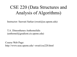 CSE 220 (Data Structures and Analysis of Algorithms)