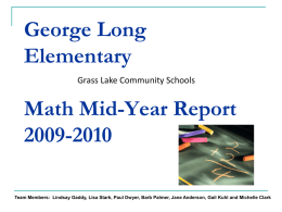 Mid Year - Jackson County Intermediate School District