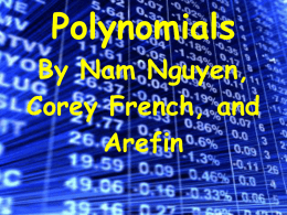 Polynomials Overview