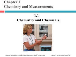 ch01 - Chemistry and Measurements