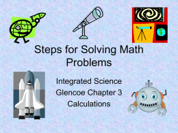 Math Problem Steps for Solving
