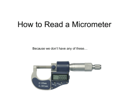 How to Read a Micrometer - L