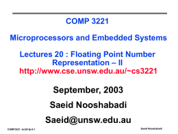 ELEC 2041 Microprocessors and Interfacing Lecture 0: Introduction