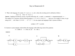 Key answers for homework #2 ()