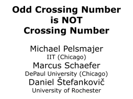 Crossing number - University of Rochester