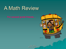 gr2A Math ReviewTP