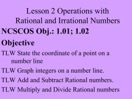 Lesson 2 Rational and Irrational Numbers Notes