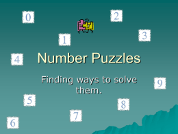Number Puzzles - Primary Resources