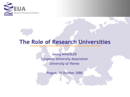 The Role of Research Universities
