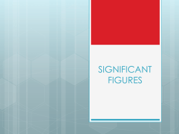 Significant figure