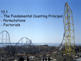 12.1 The Fundamental Counting Principal