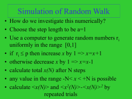 Simulation of Random Walk