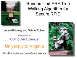 Randomized PRF Tree Walking Algorithm for