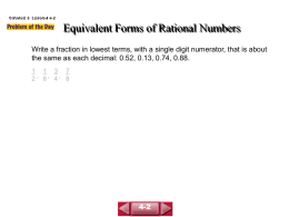 Fractions and Decimals - Gateway School District