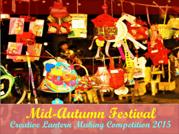 Mid-Autumn Festival Creative Lantern Making Competition 2015