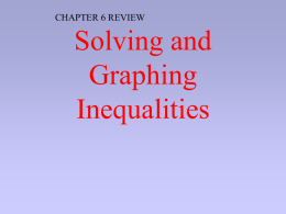 PPT Review Chapter 2 Inequalities