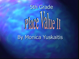 Place Value II