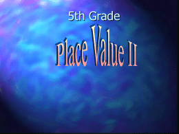 place value - 5thgradesanluiselementary