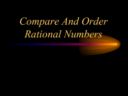 Compare And Order Non-rational numbers - Math GR. 6-8