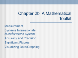 Chapter 2b A Mathematical Toolkit