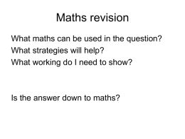 Maths revision File
