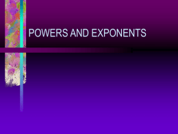 Powers and exponents1