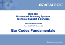 Bar Codes Fundamentals