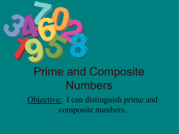 Prime and Composite Numbers & Composite