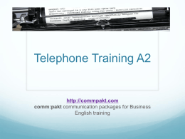 Telephone Training A2