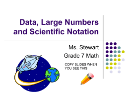Data and Large Numbers PPT